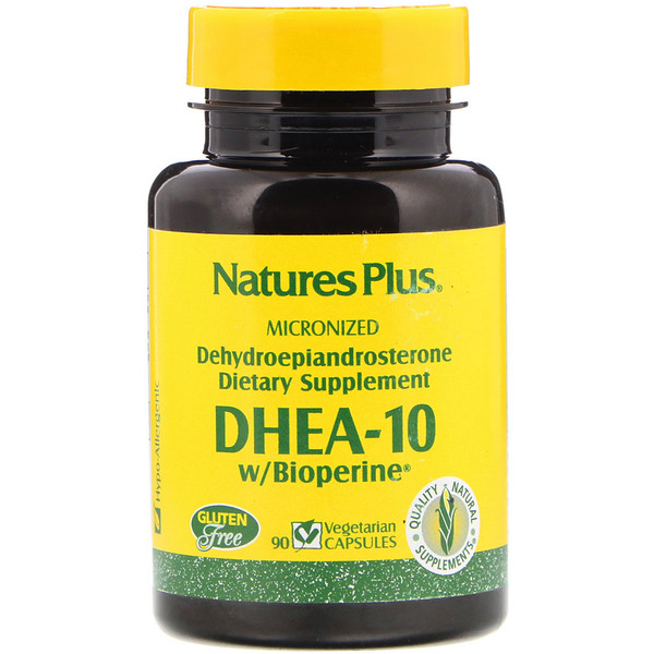 Nature's Plus, DHEA-10 With Bioperine, 90 Veggie Caps (Discontinued Item)