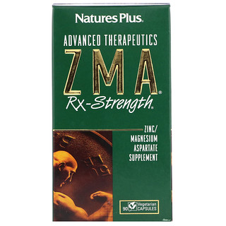 Nature's Plus, Advanced Therapeutics, ZMA Rx-Strength, 90 Vegetarian Capsules
