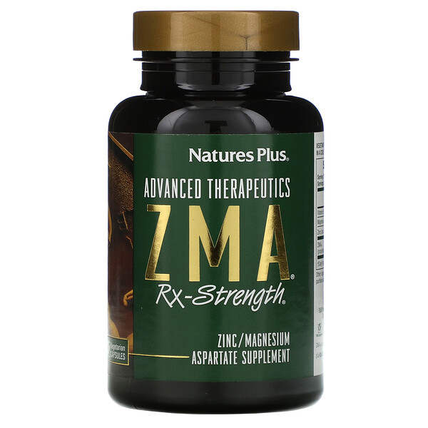 Nature's Plus, Advanced Therapeutics, ZMA Rx-Strength, 90 Vegetarian Capsules (Discontinued Item)