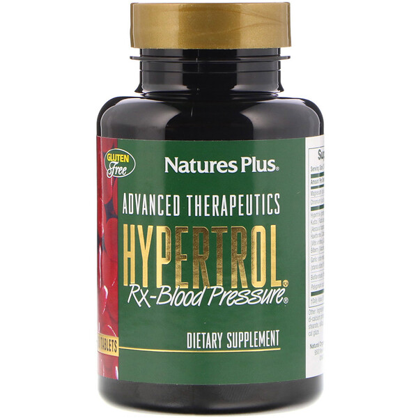 Nature's Plus, Advanced Therapeutics, Hypertrol, RX Blood Pressure, 60 Tablets