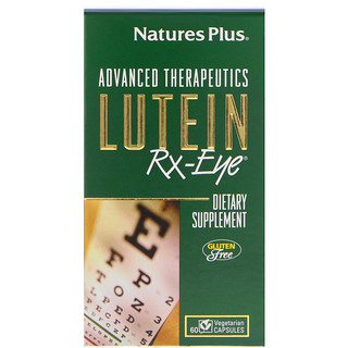 Nature's Plus, Advanced Therapeutics, Lutein RX-Eye, 60 Vegetarian Capsules