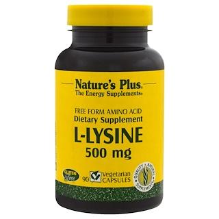 Nature's Plus, L-лизин 90 овощных капсул