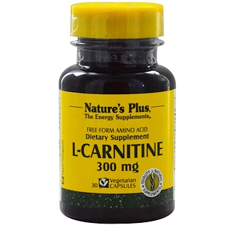 Nature's Plus, L-Carnitine, 300 mg, 30 Veggie Caps
