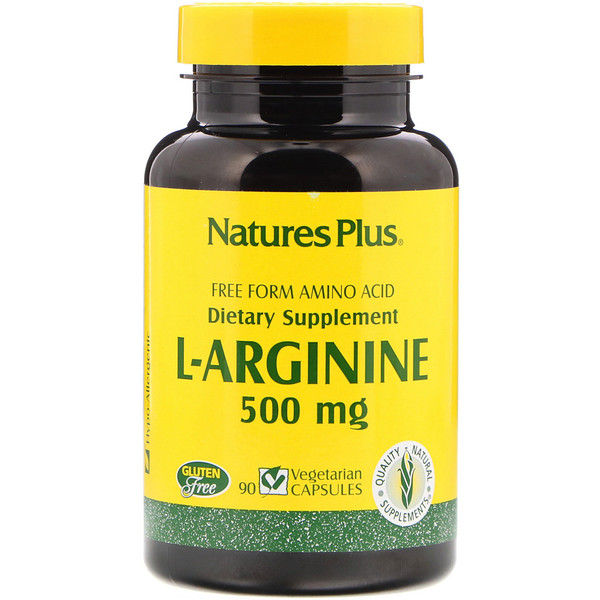 Nature's Plus, L-Arginine, 500 mg, 90 Vegetarian Capsules