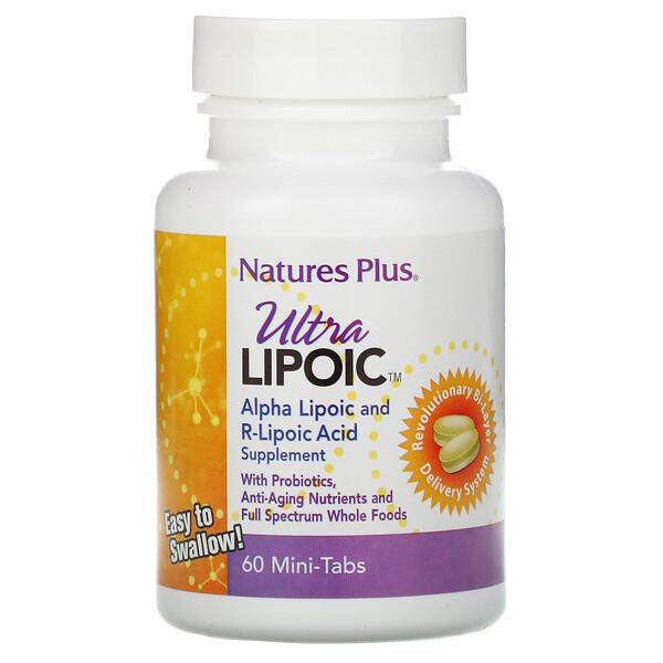 Nature's Plus, Ultra Lipoic, 60 Mini Tabs