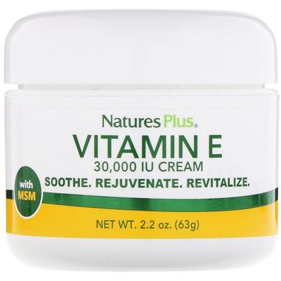 Крем с витамином E, 30,000 МЕ, 2,2 унции (63 г)