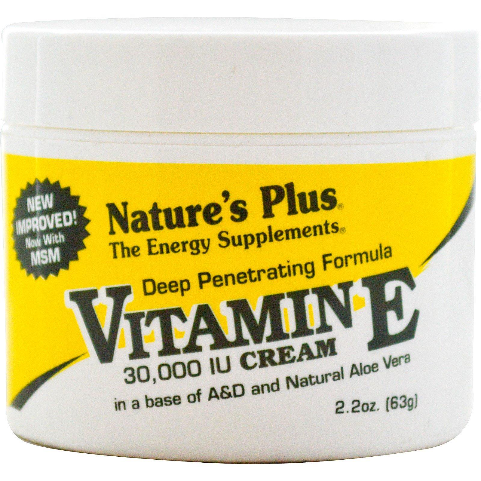 Nature's Plus, Крем с витамином E, 30,000 МЕ, 2,2 унции (63 г)