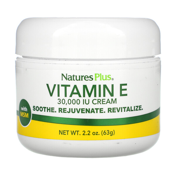 Vitamin E Cream, 30,000 IU, 2.2 oz (63 g)