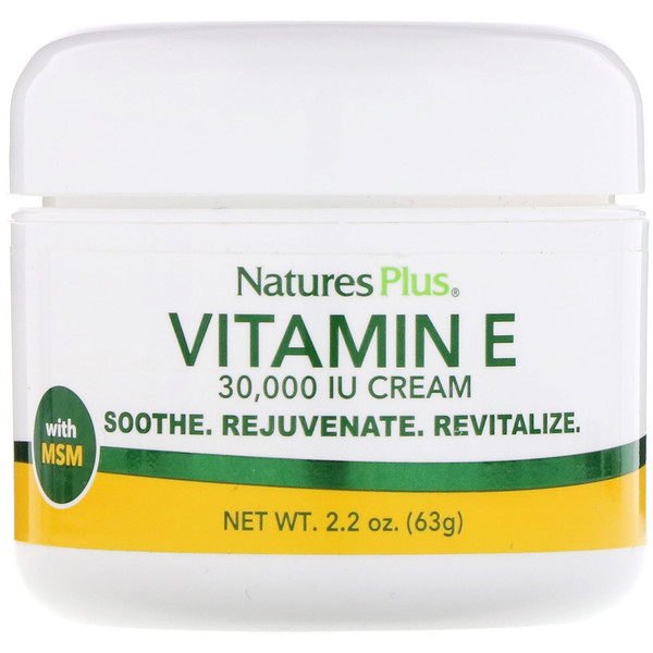 Nature's Plus, Vitamin E Cream, 30,000 IU, 2.2 oz (63 g)