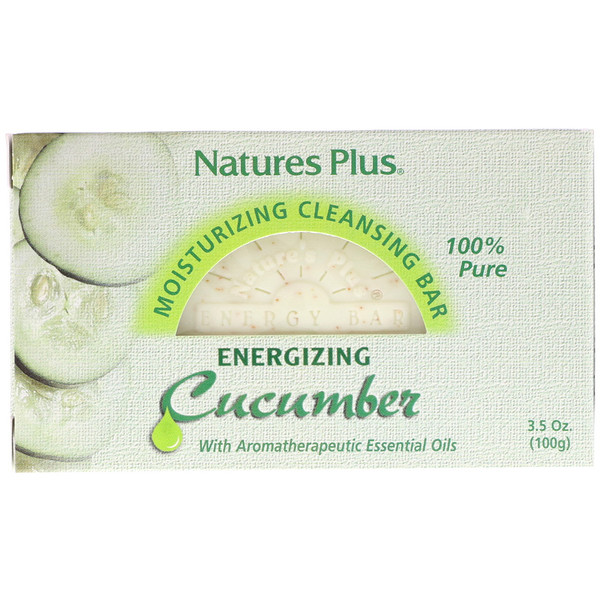 Moisturizing Cleansing Bar, Energizing Cucumber, 3.5 oz (100 g)