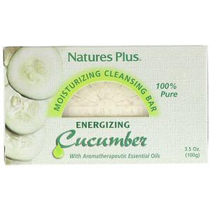 Натурес Плюс, Moisturizing Cleansing Bar, Energizing Cucumber, 3.5 oz (100 g) отзывы