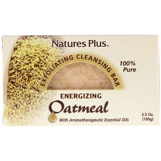 Nature's Plus, Barra de limpieza exfoliante de avena,  3,5 oz. (100 g)