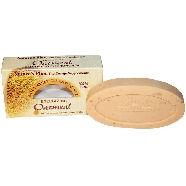 Nature's Plus, 燕麥磨砂潔面皂,3、5盎司(100克)