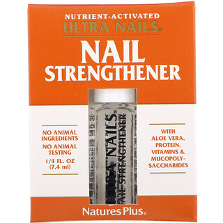 Nature's Plus, Ultra Nails, Fortalecedor de Uñas, 1/4 fl oz (7.4 ml)