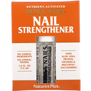 Натурес Плюс, Ultra Nails, Nail Strengthener, 1/4 fl oz (7.4 ml) отзывы покупателей