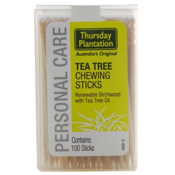 Nature's Plus, Thursday Plantation, Tea Tree Australian Chewing Sticks, 100 Count (Discontinued Item)