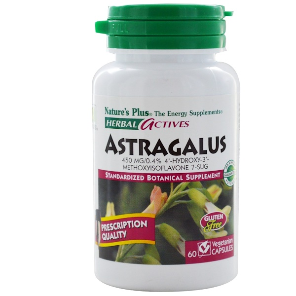 Nature's Plus, Herbal Actives, Astragalus, 450 mg, 60 Veggie Caps (Discontinued Item)