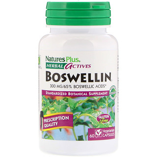 Nature's Plus, Herbal Actives, Boswellin, 300 mg, 60 Vegetarian Capsules