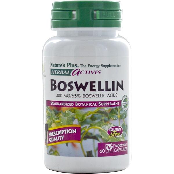Nature's Plus, ハーバルアクティブ、 ボスウェリン、 300 mg、 60植物性カプセル