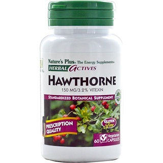 Nature's Plus, Herbal Actives, Hawthorne, 150 mg, 60 Veggie Caps