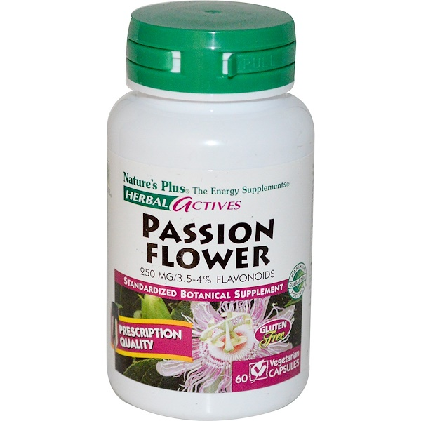 Nature's Plus, Herbal Actives, Passion Flower, 250 mg, 60 Veggie Caps