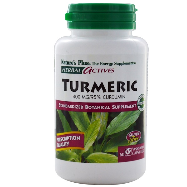 Nature's Plus, Herbal Actives, Turmeric, 400 mg, 60 Veggie Caps (Discontinued Item)