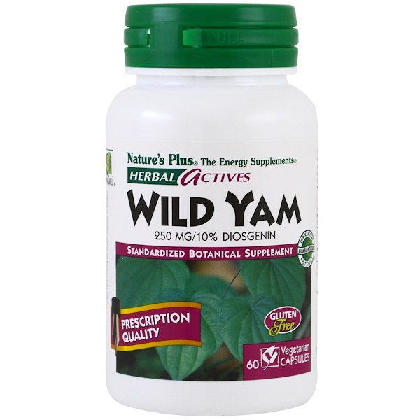 Nature's Plus, Herbal Actives, Wild Yam, 250 mg, 60 Veggie Caps (Discontinued Item)