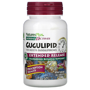 Натурес Плюс, Herbal Actives, Gugulipid, Extended Release, 1,000 mg, 30 Vegetarian Tablets отзывы