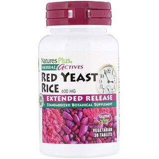 Nature's Plus, Herbal Actives, Red Yeast Rice, 600 mg, 30 Tablets