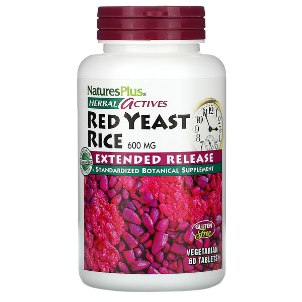 Nature's Plus, Herbal Actives, Red Yeast Rice, 600 mg, 60 Tablets