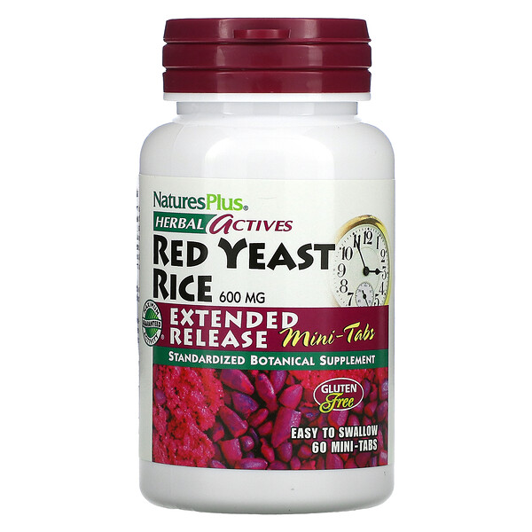 Herbal Actives, Red Yeast Rice, 300 mg, 60 Mini-Tablets