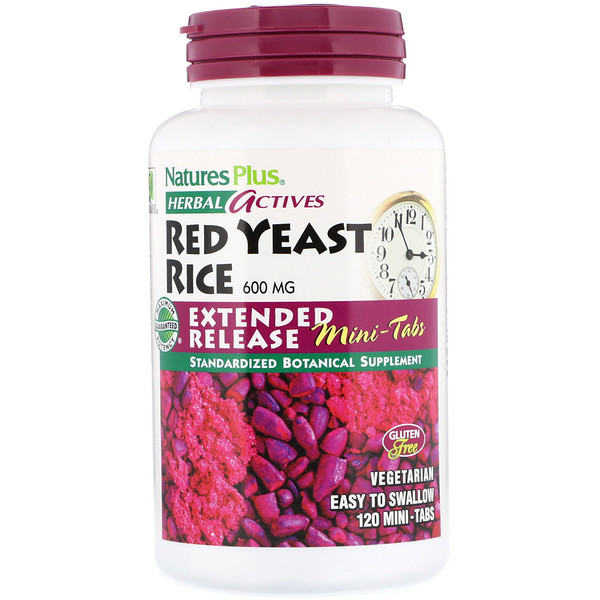 Herbal Actives, Red Yeast Rice, 600 mg, 120 Mini-Tabs