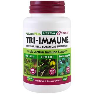 Nature's Plus, Активные травяные компоненты, Три-имьюн, 60 таблеток с замедленным высвобождением