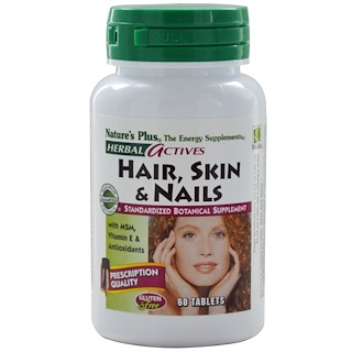 Nature's Plus, Herbal Actives, Hair, Skin & Nails, 60 Tablets