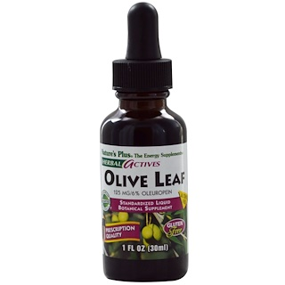 Nature's Plus, Herbal Actives, Olive Leaf, Alcohol Free, 1 fl oz (30 ml)