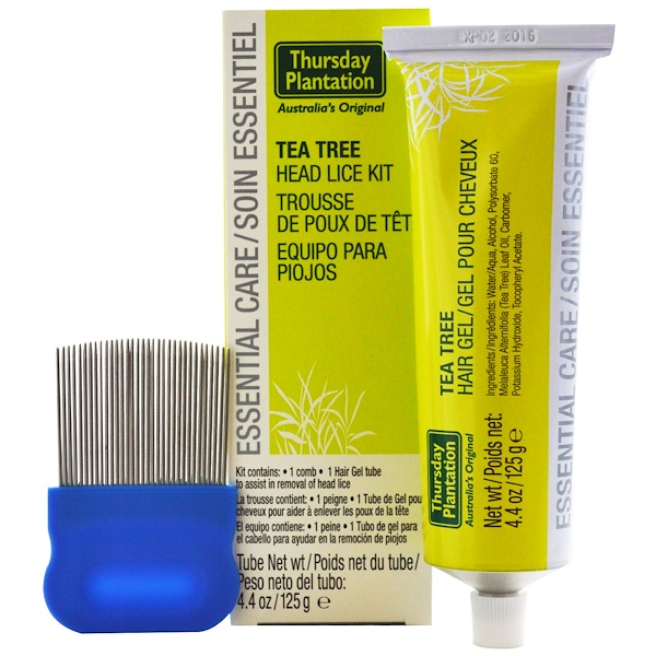 Nature's Plus, Thursday Plantation, Australia's Original, Tea Tree Head Lice Kit, 2 Piece Kit, 4.4 oz (125 g) (Discontinued Item)