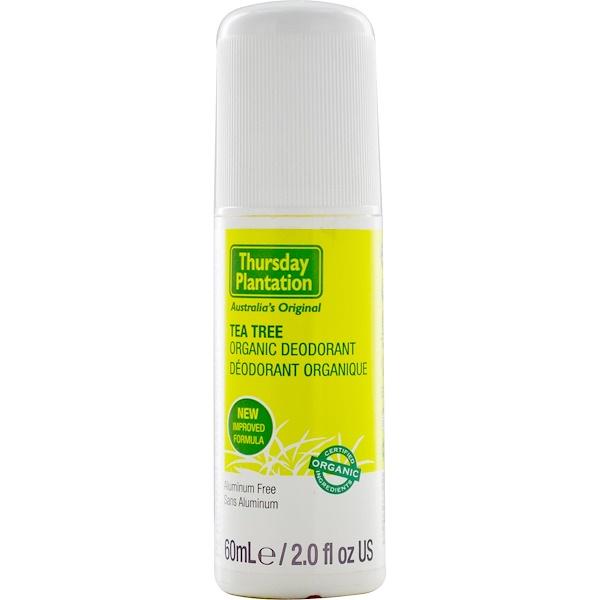 Nature's Plus, Thursday Plantation, Tea Tree Organic Deodorant, 2.0 fl oz (60 ml) (Discontinued Item)
