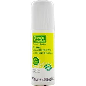 Натурес Плюс, Thursday Plantation, Tea Tree Organic Deodorant, 2.0 fl oz (60 ml) отзывы