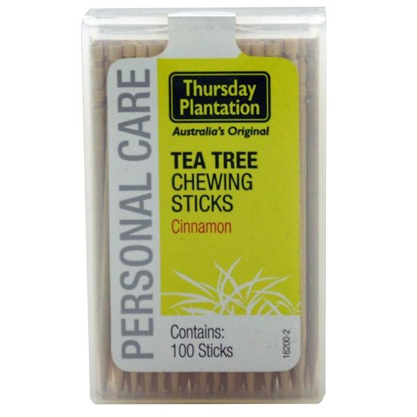 Nature's Plus, Thursday Plantation, Tea Tree Chewing Sticks, Cinnamon, 100 Sticks (Discontinued Item)