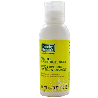 Nature's Plus, Thursday Plantation, Tea Tree & Witch Hazel Toner, 3.37 fl oz (100 ml)