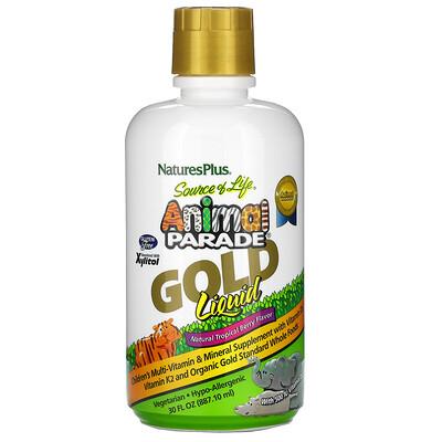 Купить Nature's Plus Source of Life, Animal Parade, Gold Liquid, мультивитамины для детей, вкус натуральных тропических ягод, 887, 10 мл (30 жидк.унций)