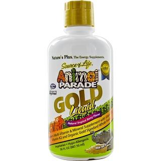 Nature's Plus, Source of Life,動物大遊行,黃金液、 天然熱帶漿果味,30 液體盎司 (887.10 毫升)