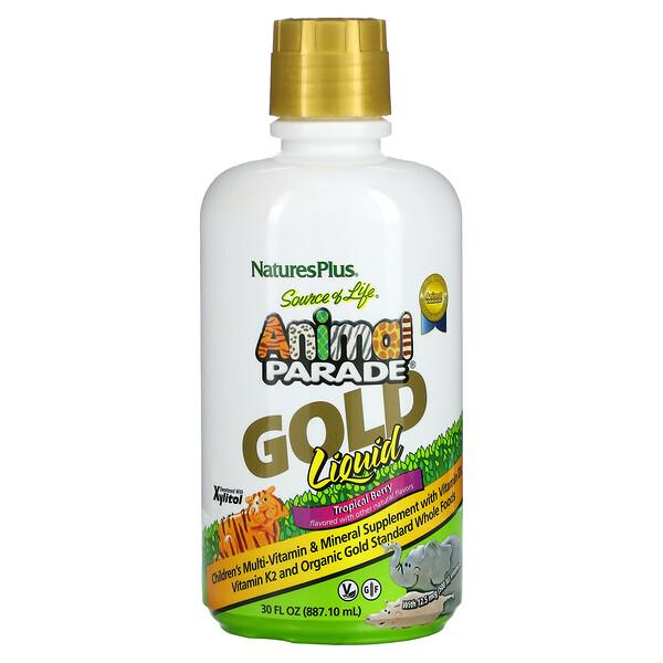 Source of Life, Animal Parade, Gold Liquid, Tropical Berry, 30 fl oz (887.10 ml)