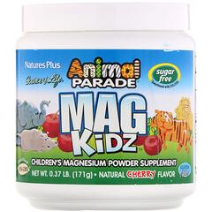 Nature's Plus, Animal Parade, Mag Kidz, Children's Magnesium, Natural Cherry Flavor, 0.37 lb (171 g)