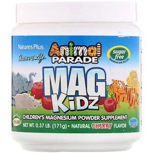 Натурес Плюс, Animal Parade, Mag Kidz, Children's Magnesium, Natural Cherry Flavor, 0.37 lb (171 g) отзывы покупателей