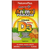 Nature's Plus, Source of Life, Animal Parade, Vitamin D3, Natural Black Cherry Flavor, 500 IU, 90 Animal-Shaped Tablets