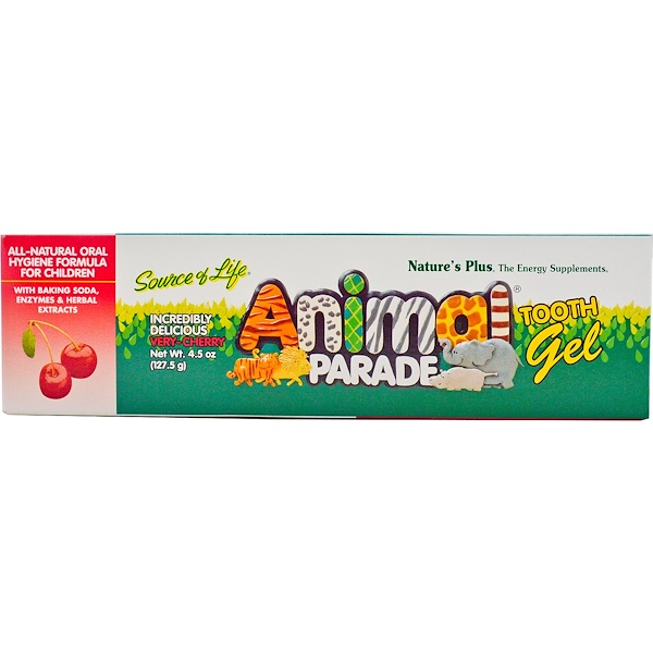 Nature's Plus, Source of Life, Animal Parade, Tooth Gel, Very-Cherry, 4.5 oz (127.5 g) (Discontinued Item)