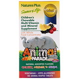 Отзывы о Nature's Plus, Animal Parade, жевательные таблетки для детей с мультивитаминами и минералами, несколько вкусов, 180животных