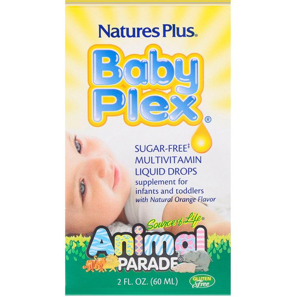 Source of Life, Animal Parade, Baby Plex, zuckerfreie Multivitamin-Tropfen, natürliches Orangenaroma, 2 fl oz (60 ml)