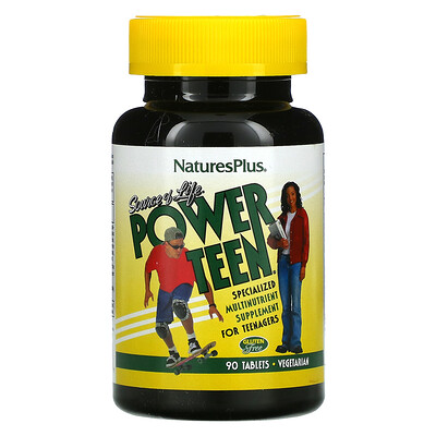 Nature's Plus Source Of Life, Power Teen, 90 Tablets